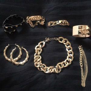 Jewelry - Retro Style Gold Costume Jewelry Bundle